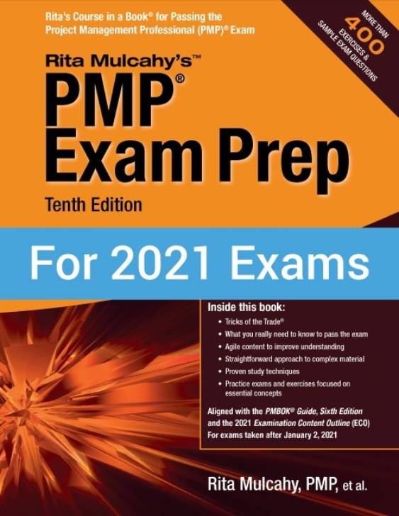 Rita Mulcahy PMP Exam Prep front cover